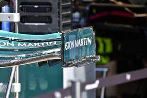 Aston Martin AMR21 dettaglio ala anteriore