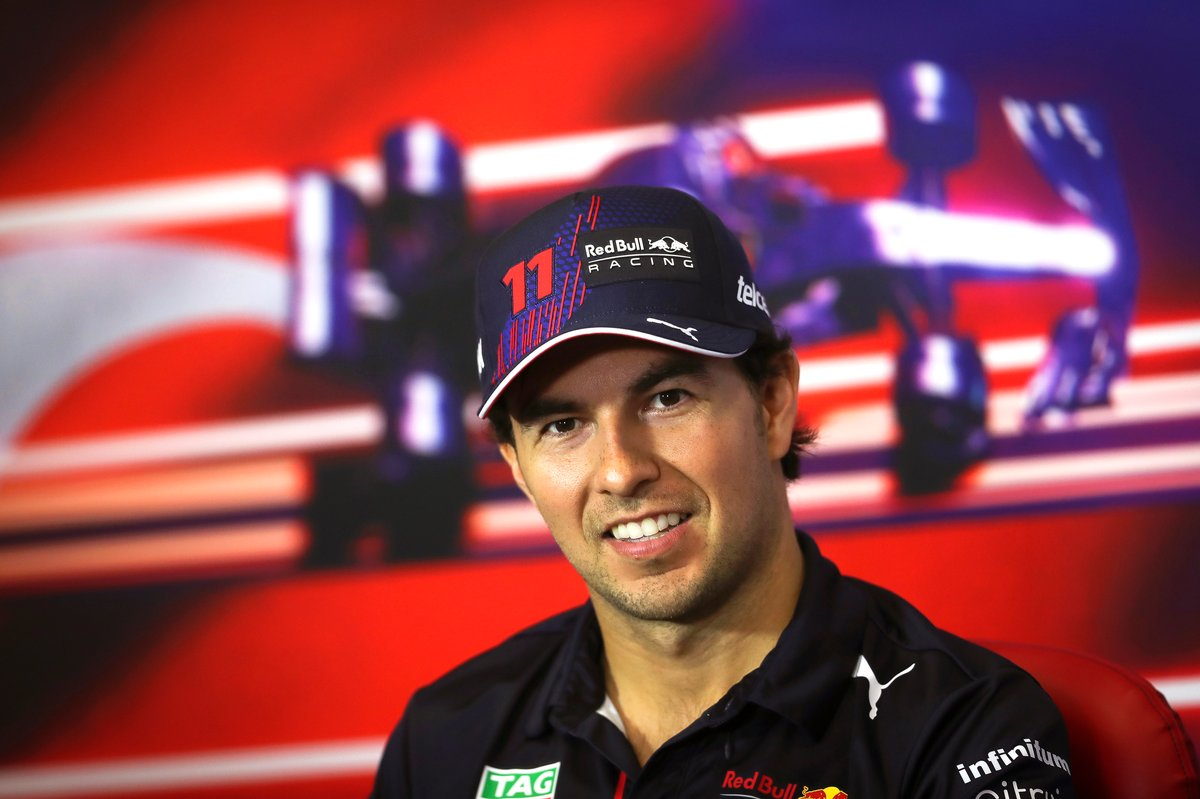 Sergio Pérez, Red Bull Racing en la conferencia de prensa