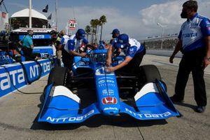 Des membres de l'équipe d'Alex Palou, Chip Ganassi Racing Honda