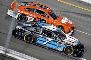 Corey LaJoie, Spire Motorsports, Chevrolet Camaro Shavelogic and Bubba Wallace, 23XI Racing, Toyota Camry Door Dash