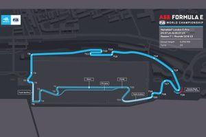 Formula E London track layout