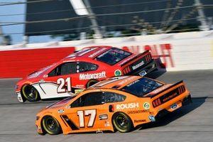 Chris Buescher, Roush Fenway Racing, Ford Mustang Roush Performance, Matt DiBenedetto, Wood Brothers Racing, Ford Mustang Motorcraft/Quick Lane