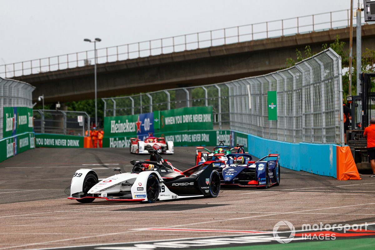 Pascal Wehrlein, Porsche, Porsche 99X Electric, Robin Frijns, Envision Virgin Racing, Audi e-tron FE07, Lucas Di Grassi, Audi Sport ABT Schaeffler, Audi e-tron FE07