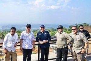 Tommy Soeharto dan Ketua Umum Ikatan Motor Indonesia (IMI), Bambang Soesatyo