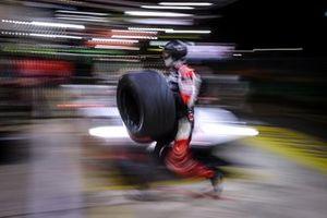 Toyota Gazoo Racing mechanic in action