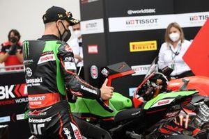 Polesitter Jonathan Rea, Kawasaki Racing Team WorldSBK