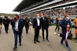 Stefano Domenicali, CEO, Formula 1, on the grid