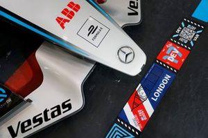 The nose cone on the car of Nyck de Vries, Mercedes-Benz EQ, EQ Silver Arrow 02