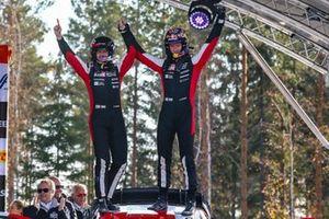 Winner Elfyn Evans, Scott Martin, Toyota Gazoo Racing WRT Toyota Yaris WRC