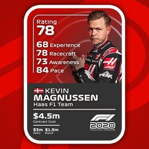 Cartas del F1 2020 definitivas: Kevin Magnussen