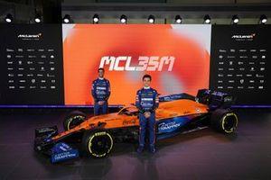 Daniel Ricciardo, Lando Norris, McLaren MCL35M