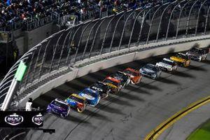 Denny Hamlin, Joe Gibbs Racing, Toyota Camry FedEx, Kyle Busch, Joe Gibbs Racing, Toyota Camry M&M's