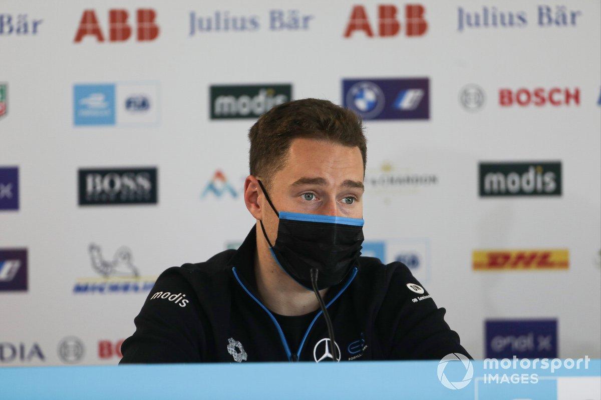 Stoffel Vandoorne, Mercedes Benz EQ, in the press conference