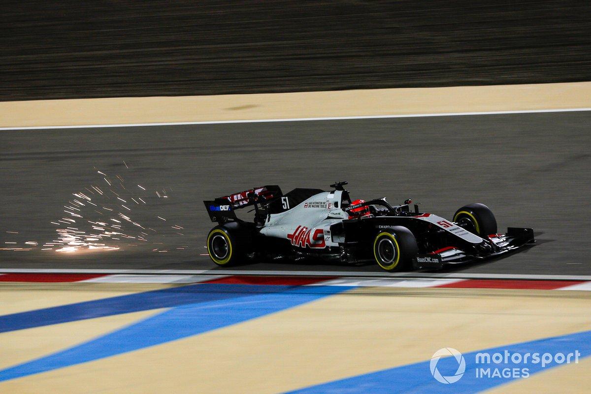 Scintille generate dall'auto di Pietro Fittipaldi, Haas F1 Haas VF-20