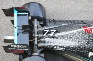 Mercedes W11 rear detail