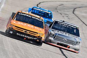 Tyler Ankrum, GMS Racing, Chevrolet Silverado Liuna! and Johnny Sauter, ThorSport Racing, Toyota Tundra Vivitar/RealTree