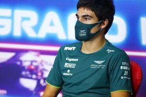 Lance Stroll, Aston Martin in the Press Conference