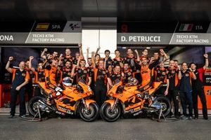 Danilo Petrucci, KTM Tech3, Iker Lecuona, KTM Tech3 with the team