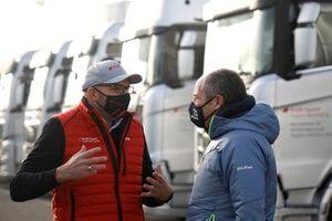 Chris Reinke, PDG d'Audi Customer Racing, Gerhard Berger, Président ITR