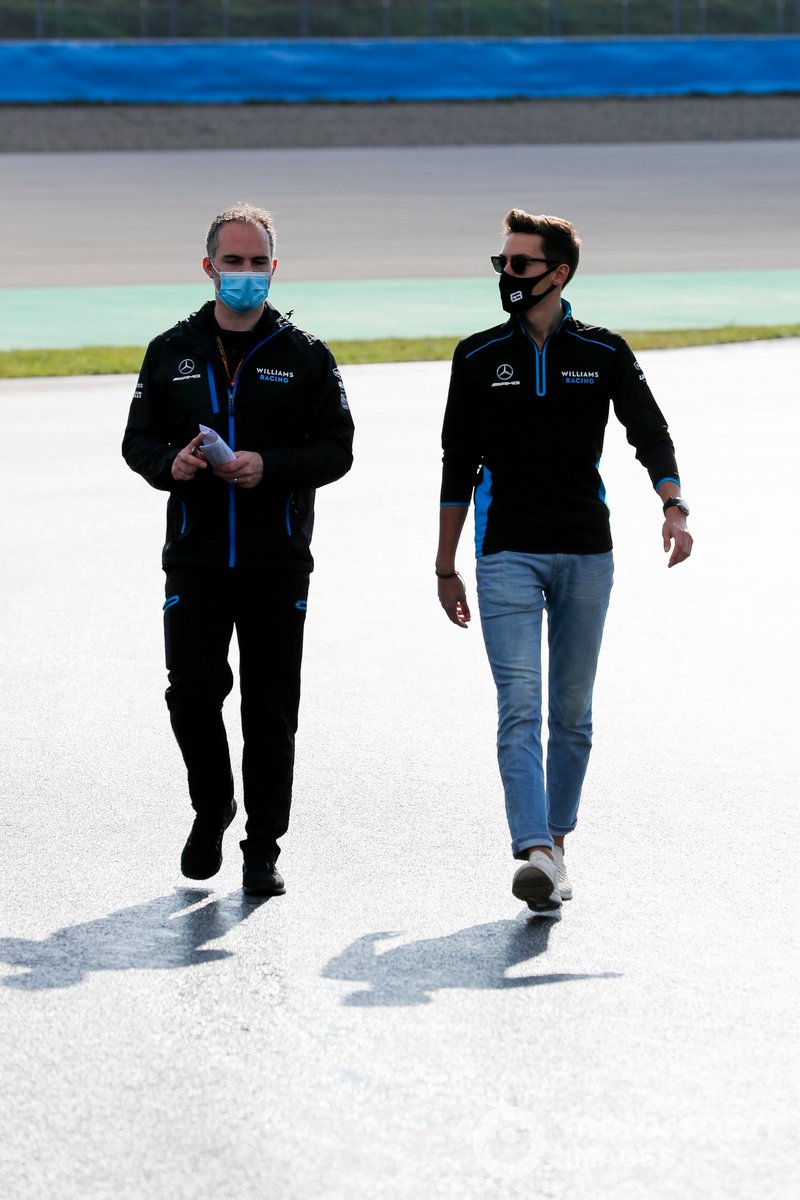 George Russell, Williams Racing walks the track