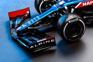 Alpine A521, dettaglio dell'ala anteriore