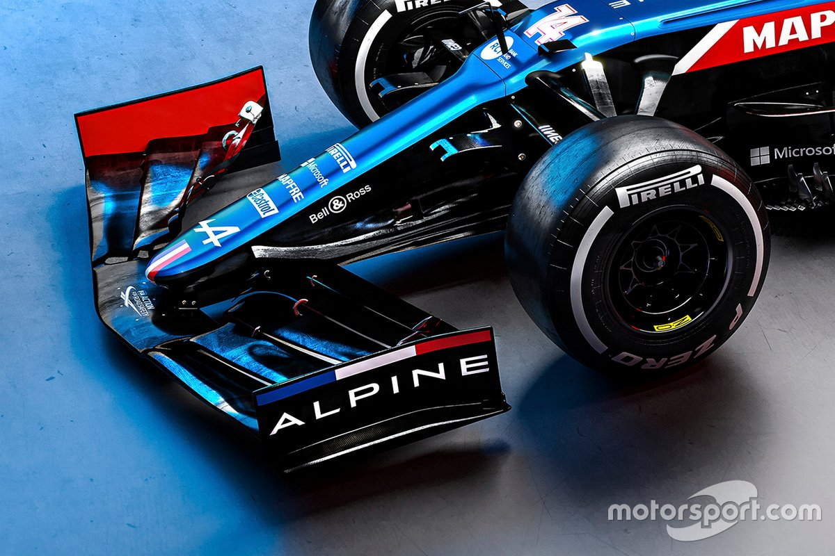 Alpine A521 front wing detail