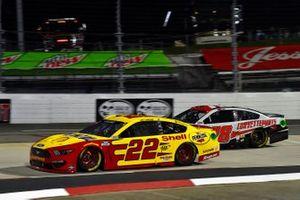 Joey Logano, Team Penske, Ford Mustang Shell Pennzoil, B.J. McLeod, Live Fast Motorsports, Ford Mustang CorvetteParts.net