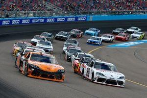 Harrison Burton, Joe Gibbs Racing, Toyota Supra DEX Imaging, Daniel Hemric, Joe Gibbs Racing, Toyota Supra Poppy Bank