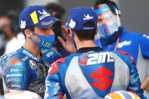 Race winner Joan Mir, Team Suzuki MotoGP, second place Alex Rins, Team Suzuki MotoGP