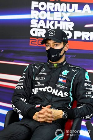 George Russell, Mercedes-AMG F1, in the press conference