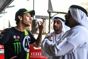Valentino Rossi with Al Tareq Al Ameri, Yas Marina CEO ve Abdulrahman Al Shamsi,