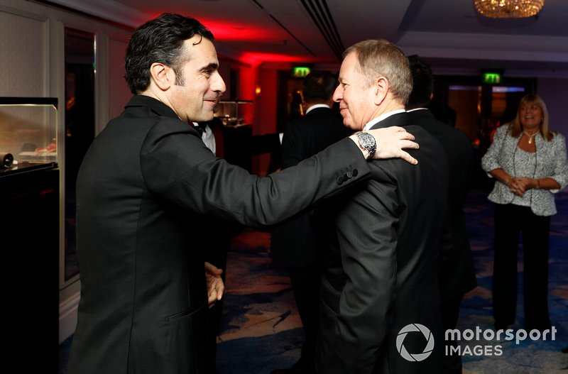 Dario Franchitti y Martin Brundle