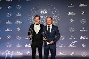 Hadrien David with Valtteri Bottas, Mercedes AMG F1