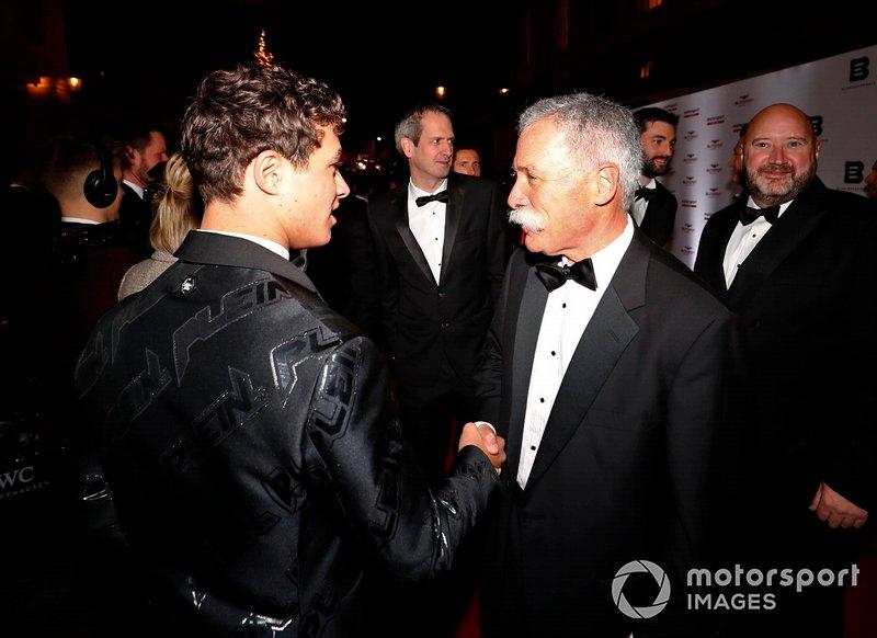 Lando Norris, McLaren, Chase Carey, Presidente de Fórmula 1