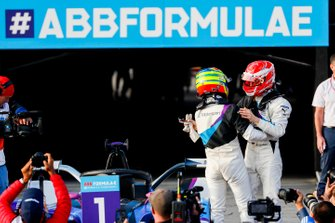 Alexander Sims, BMW I Andretti Motorsports, 1° classificato, Maximilian Gunther, BMW I Andretti Motorsports, BMW iFE.20, 2° classificato