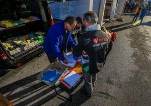 Les vérifications au Castellet, France