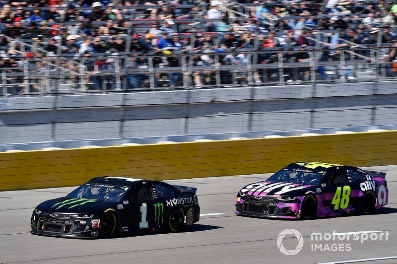 Kurt Busch, Chip Ganassi Racing, Chevrolet Camaro Monster Energy, Jimmie Johnson, Hendrick Motorsports, Chevrolet Camaro Ally