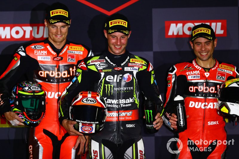 Chaz Davies, Aruba.it Racing-Ducati Team, Jonathan Rea, Kawasaki Racing Team, Alvaro Bautista, Aruba.it Racing-Ducati Team