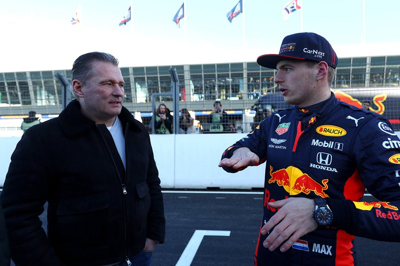 Max Verstappen, Red Bull Racing, with Jos Verstappen