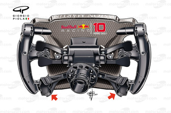Red Bull Racing RB 15, steering wheel Pierre Gasly