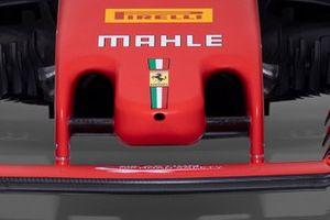 Vue détaillée du nez de la Ferrari SF1000