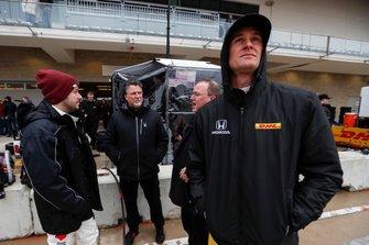 Ryan Hunter-Reay, Andretti Autosport Honda, Marco Andretti, Andretti Herta with Marco & Curb-Agajanian Honda, and Michael Andretti