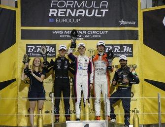 Виктор Мартинс, MP Motorsport, Оскар Пиастри, R-ace GP, Лоренцо Коломбо, MP Motorsport, и Куш Майни, M2 Competition