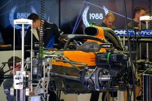 McLaren MCL34 in the garage