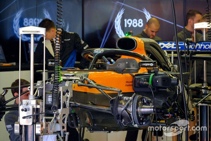 McLaren MCL34 in garage