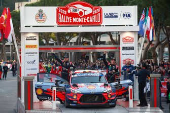 Ganador Thierry Neuville, Nicolas Gilsoul, Hyundai Motorsport Hyundai i20 Coupe WRC