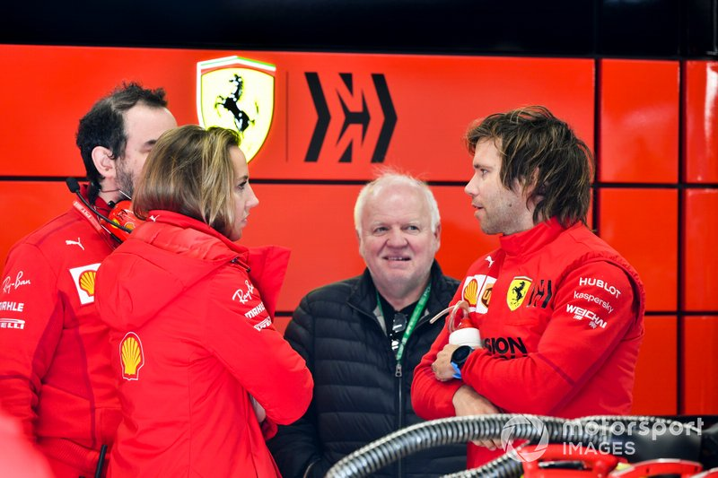 Norbert Vettel in the Ferrari garage