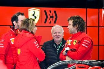 Norbert Vettel in the Ferrari garage