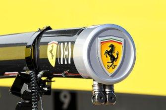 Ferrari Logo on pit gantry