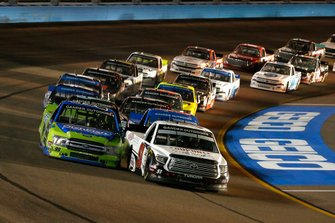 Brandon Jones, Kyle Busch Motorsports, Toyota Tundra DuPont Air Filtration and Ben Rhodes, ThorSport Racing, Ford F-150